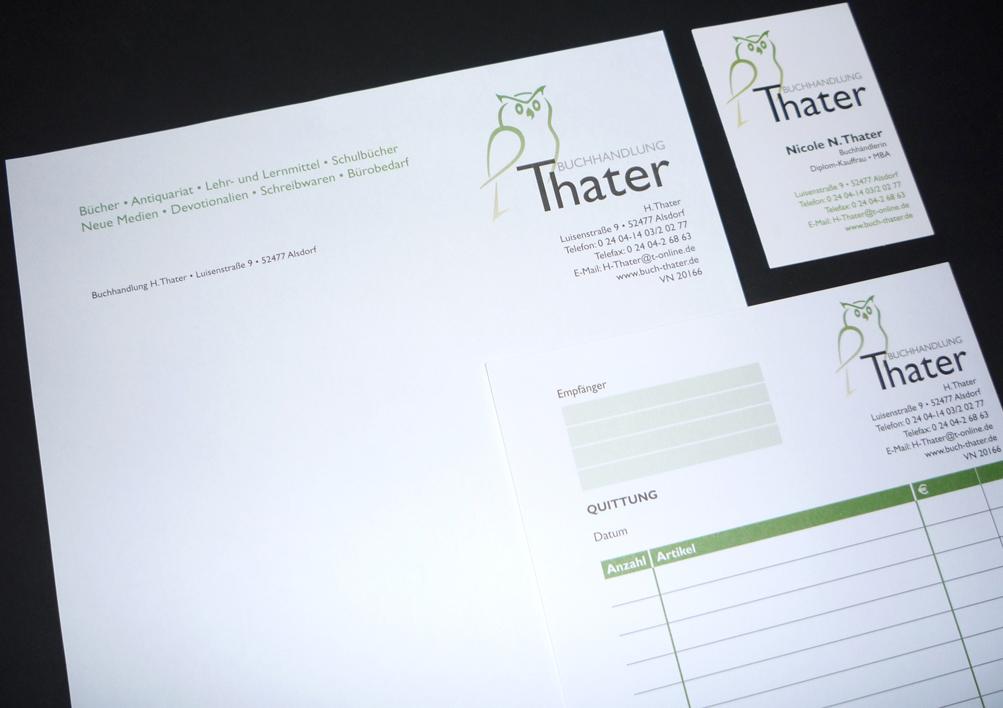Layout und Ausführung: Briefpapier · Visitenkarten · Faxvorlage · Quittungsblock · Lieferschein