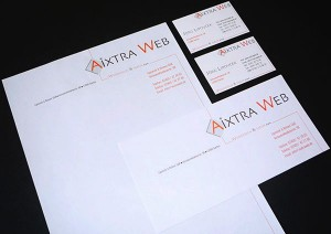 Layout und Ausführung: Briefpapier · Visitenkarten