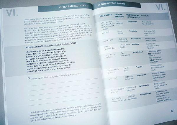 Layout und Reinzeichnung für eine Hausgrammatik des Bischöflichen Gymnasiums St. Ursula