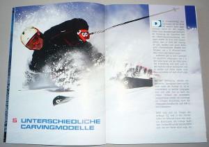 Layout und Reinzeichnung für einen Wintersporttitel
