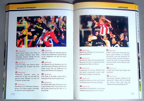 Layout und Reinzeichnung für ein Fußballbuch