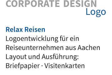 Logoentwicklung für ein Reisebüro Layout und Ausführung: Briefpapier · Visitenkarten · Schild