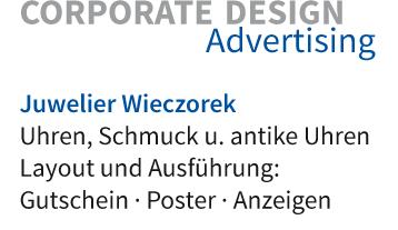Layout und Ausführung: Gutschein · Poster · Anzeigen