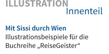 """Illustrationsbeispiele für die Buchreihe """"ReiseGeister"""" aus dem traveldiary.de Reiseliteratur-Verlag"""